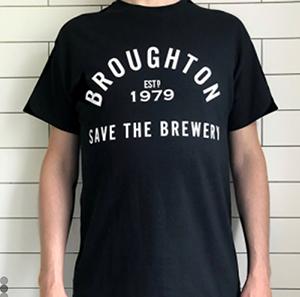 broughton brewery t-shirt
