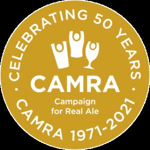 CAMRA 50th logo