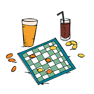 Pub Games Illustration