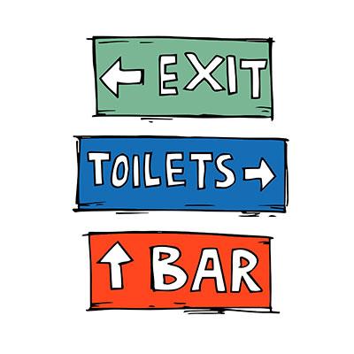 Pub Signs Illustration